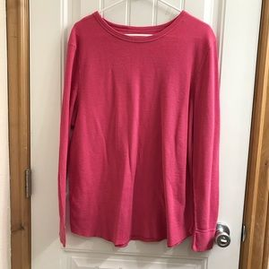 **Hanes Berry Pink Waffle Thermal**